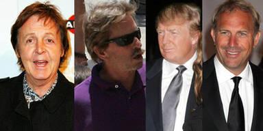 Alte Väter: Paul McCartney, Michael Douglas, Donald Trump, Kevin Costner