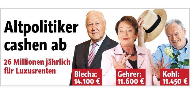 Polit-Rentner cashen groß ab