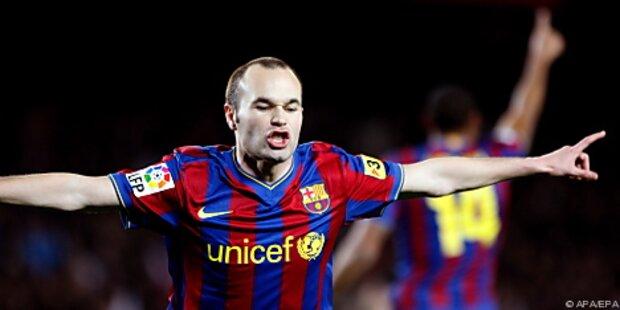 FC Barcelona legte mit 4:0 gegen Santander vor