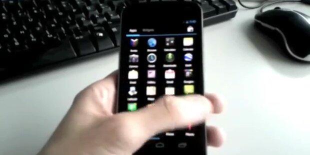 Nexus Prime mit Android 4.0 vor Start