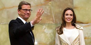 Angelina Jolie trifft  Guido Westerwelle