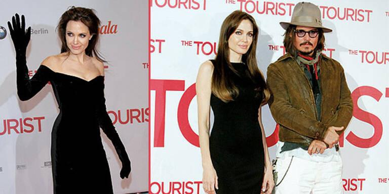 Angelina im Grusel-Look