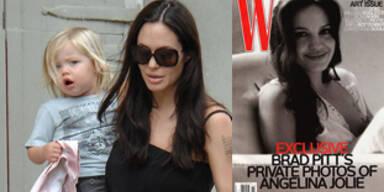 Brad Pitt knipste Angelina Jolie beim Stillen