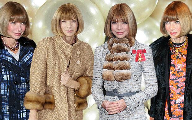 Modeikone zeigt ihre Wintergarderobe