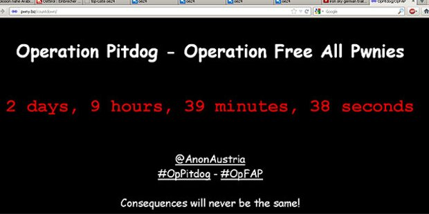 Anonymous startet Countdown