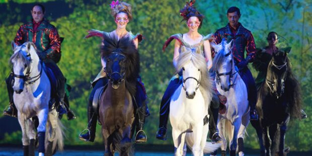 Pferde verzaubern wieder Wiener Stadthalle