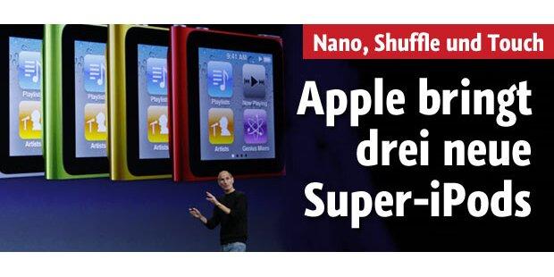 Steve Jobs zeigt 3 neue Super-iPods