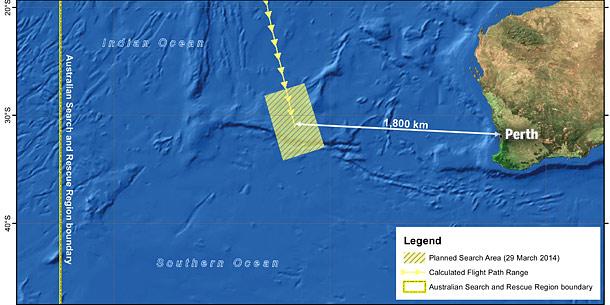 MH370 Suchgebiet