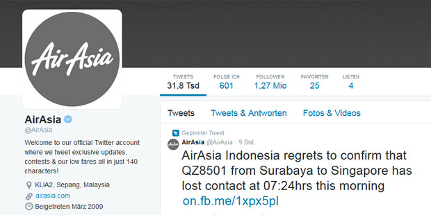 Air Asia Twitter