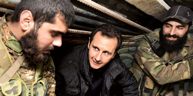 Assad Bunker Soldaten Syrien