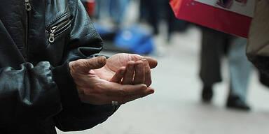 Armut Bettler betteln