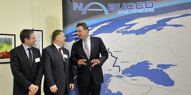 Nabucco Pipeline, Reinhard Mitschek, Pal Kovacs, Gerhard Roiss