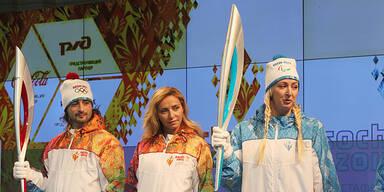 Olympische Fackel Sotschi