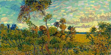 Van Gogh / Sonnenuntergang bei Montmajour