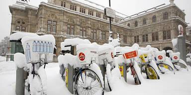 Schnee Winter Wetter Wien Oper