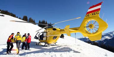Ski Unfall Hubschrauber Piste