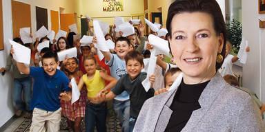 Volksschule Zeugnis / Gabriele Heinisch-Hosek