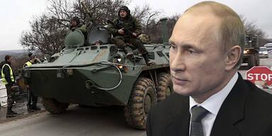 Wladimir PUTIN / Radpanzer / Ukraine / Krim
