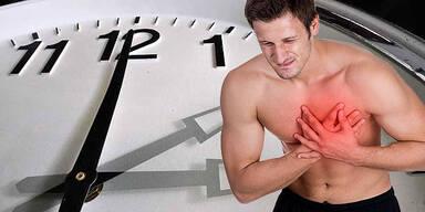Sommerzeit Zeitumstellung Herzinfarkt