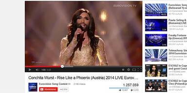 Conchita Wurst ist auch YouTube-Königin