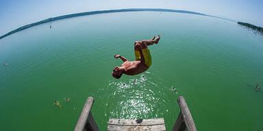 Sommer Hitze See Baden Wetter