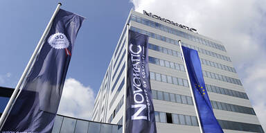 Novomatic / Logo Marke Firmensitz Gumpoldskirchen