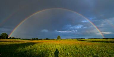 Wetter Sonne Regenbogen Sommer