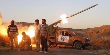 Syrien Rakete Rebellen