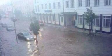 Unwetter setzten ganze Orte unter Wasser