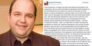 Gerald PICHOWETZ Einbruch