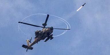 Israel Golan-Höhen Militär Hubschrauber Apache