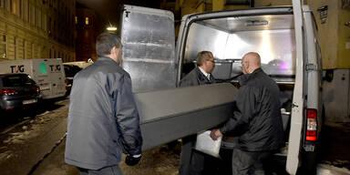 Leiche in Wien-Ottakring Leichenwagen