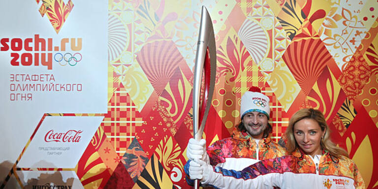 Olympische Fackel fliegt ins Weltall
