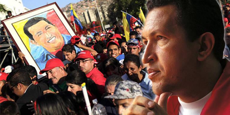 Eklat bei Gedenkrede für Hugo Chavez