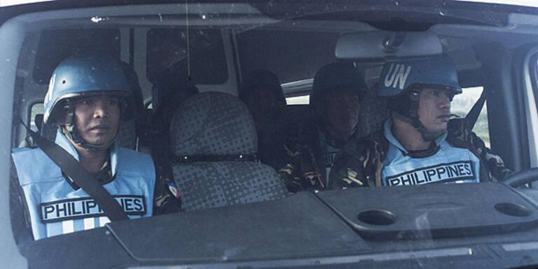 Verschleppte UNO-Blauhelme in Sicherheit