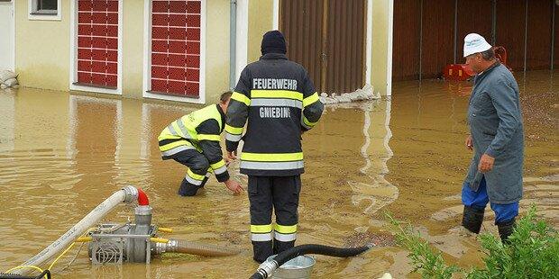 Hochwasser-Alarm nach Dauerregen