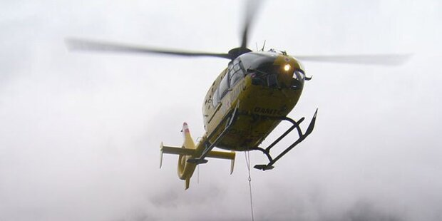 Verletzter Skifahrer mit Heli geborgen