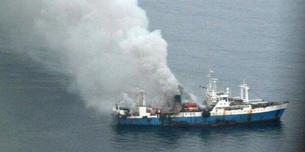 Brennender Trawler: Bergung gescheitert