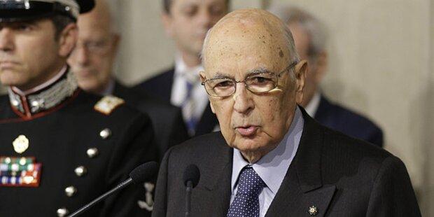 Italien: Napolitano wiedergewählt