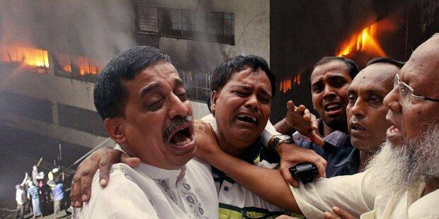 Brand in Textilfabrik: Mindestens acht Tote