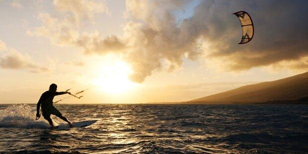 Kite-Surferin schwer verunglückt