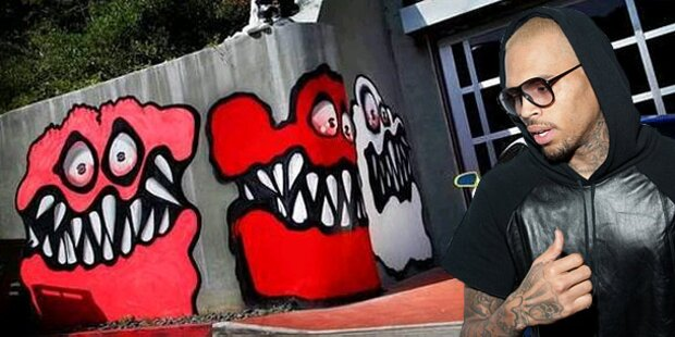 Chris Brown: Ärger wegen Monster-Graffiti
