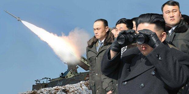 Nordkorea feuerte zwei Raketen ins Meer