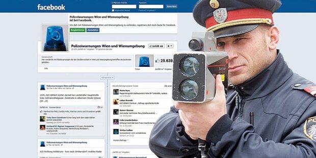 Radar-Fallen auf Facebook