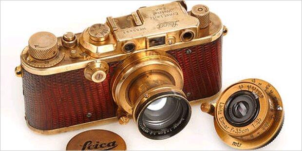 Halbe Million Euro für vergoldete Kamera