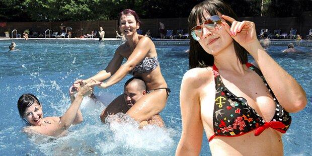32 Grad: Badewetter am Wochenende