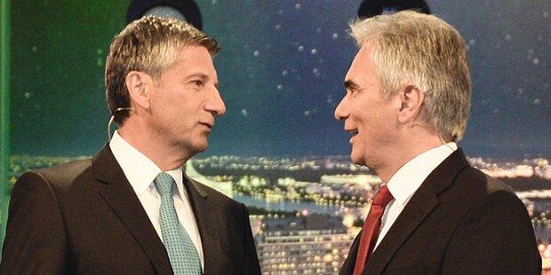 Warum sich Kanzler & Vize im TV-Duell duzten