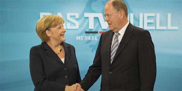 Merkel gegen Steinbrück in TV-Duell