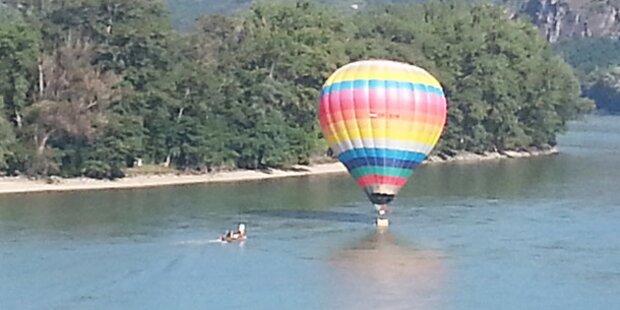 Heißluftballon stürzte in Donau