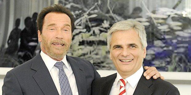 Schwarzenegger: Schnitzel mit Kanzler